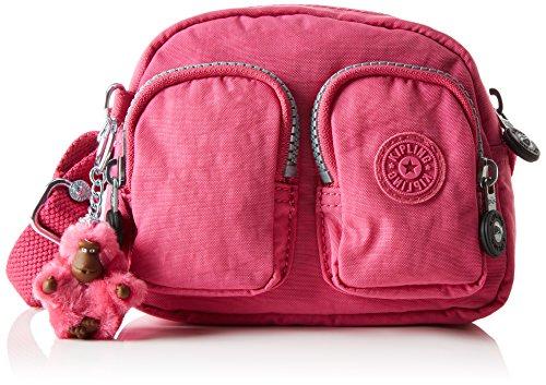 Kipling Kalipe K15332, Borsa a Spalla Donna, Rosa (77H Carmine Pink), 16.5x13.5x6 cm (B x H x T)