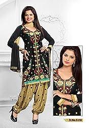 Venisa Cambric Cotton Black Color Salwar Suit Dress Material