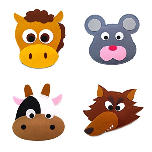 Animal Headband masks horse+mouse+cow+wolf