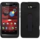 MYBAT AMOTXT907HPCSYMS001NP Symbiosis Dual Layer Protective Case with Kickstand for Motorola Droid Razr M XT907 - 1 Pack - Retail Packaging - Black