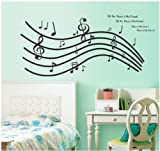 Topro Melody Score Music Is My Friend Dream Love Life Wall Art Stickers Dec...