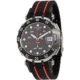 Tissot Black Dial SS Rubber Chronograph Quartz Men's Watch T0924172720100 (Color: Black)