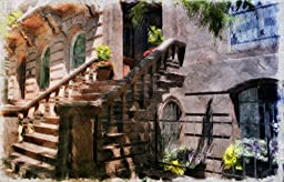 Original Baltimore Art, Mount Vernon Brownstone Pastel