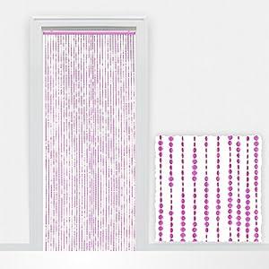 Tenda decorativa per porta con perline a diamante - fili regolabili - 90x220cm - fucsia: Amazon ...
