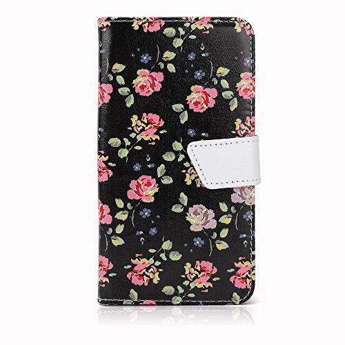 """Schwarz Rosa Schutz-hülle Tasche Case Cover für 4,0"""" - 4,5"""" Zoll Handy Smart Phone, kompatibel mit Samsung Galaxy S4 I9505, Samsung GALAXY S3 i9300, Samsung Galaxy G3500, NOKIA LUMIA 625, Nokia Lumia 720, Nokia Lumia Icon, SONY ERICSSON XPERIA T LT30P, LG OPTIMUS TRUE HD LTE P936, LG E975 Optimus G, LG PRADA PHONE P940, HTC Evo 3d Smartphone, ARCHOS 45 Helium 4G, ARCHOS 45 Titanium, CUBOT GT72 Smartphone, CUBOT ONE 4.7"""" IPS 720P HD 3G Smartphone, ZTE Blade G (11,4 cm) 4,5 Zoll"""