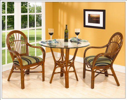 Boca Rattan Amarillo-Delta Glass Top Cafe Table