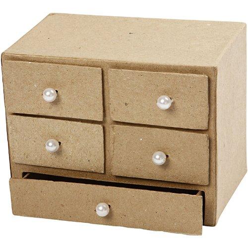 Pequeña caja de cartón piedra para decorar
