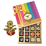 Chocholik Belgium Chocolates - Impressive Collection Of Chocolates And Truffle Gift Box With Ganesha Idol - Diwali...