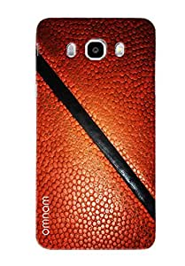 Omnam Brown Leather Printed Pattern Printed Designer Back Cover Case For Samsung Galaxy J7 (2016)