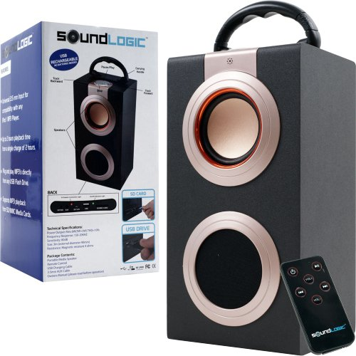 Sound Logic Rechargeable Portable Media Speaker 4796 Best
