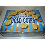 Elite Milk Chocolate Gold Coins Box of 24 Mesh Bags