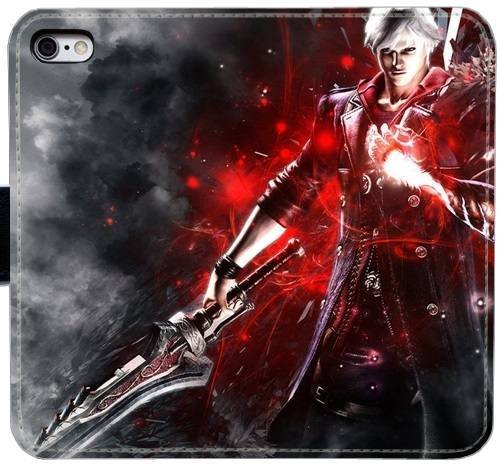 Devil May Cry 4 PU Leather Flip Wallet Case Cover Phone Cases For iphone 6 6S LPD1379 (Devil May Cry Iphone 6 Case compare prices)