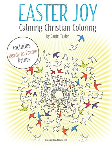 Easter Joy: Calming Christian Coloring Book