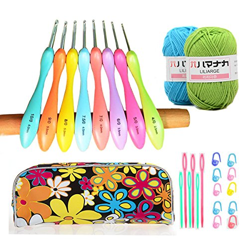 Comfort Zone Knitting Needles : Ergonomic crochet hooks set comfort grip needles