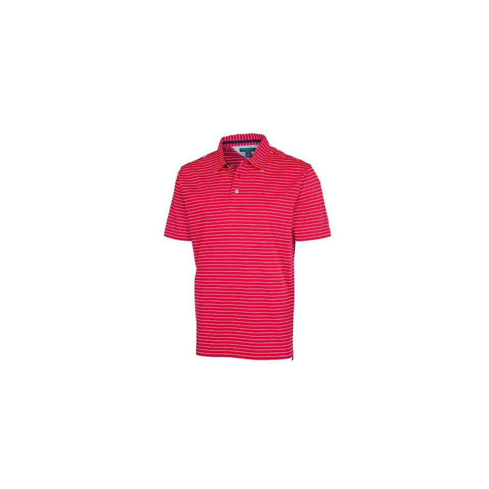 Tommy Hilfiger Mens Luther Polo Tee, Tango Red, Large