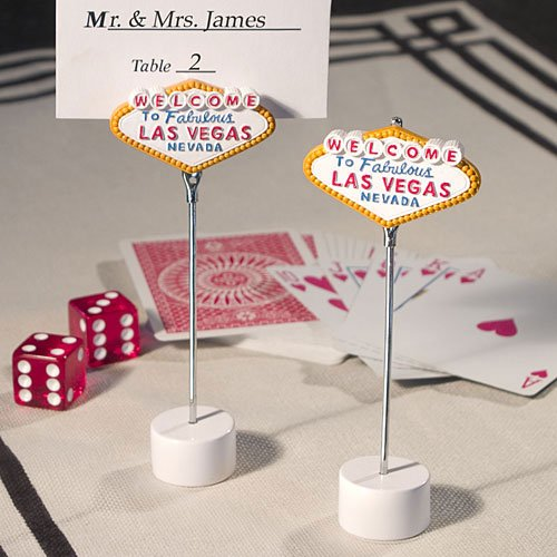 Las Vegas Themed Place Card Holders (Set of 12)