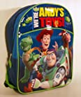 Toy Story Disney Backpack Buzz Lightyear Woody Rex Bullseye Squeeze Toy Aliens - Large Full Size