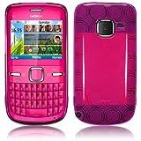 Funda GEL GOMA Nokia C3 color Rosa Fucsia Translúcido