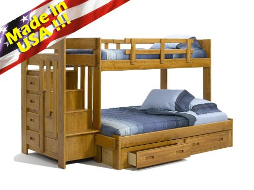 Bunk Beds With Stairs 3124 front