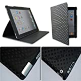 Diamond Magnetic Smart PU Leather Cover Case iPad 2 Black