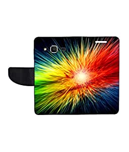 KolorEdge Printed Flip Cover For Samsung Galaxy Core Prime - Multicolor(45KeMLogo8282CorePrime)