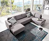 Couch Silas Grau 300x200 cm Ottomane Rechts Designer...