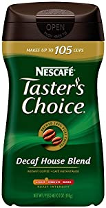 Nescafe Taster's Choice  House Blend Decaf Instant Coffee, 7 Ounce Canister