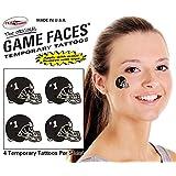 Football Helmet Temporary Tattoos 25 Sheets