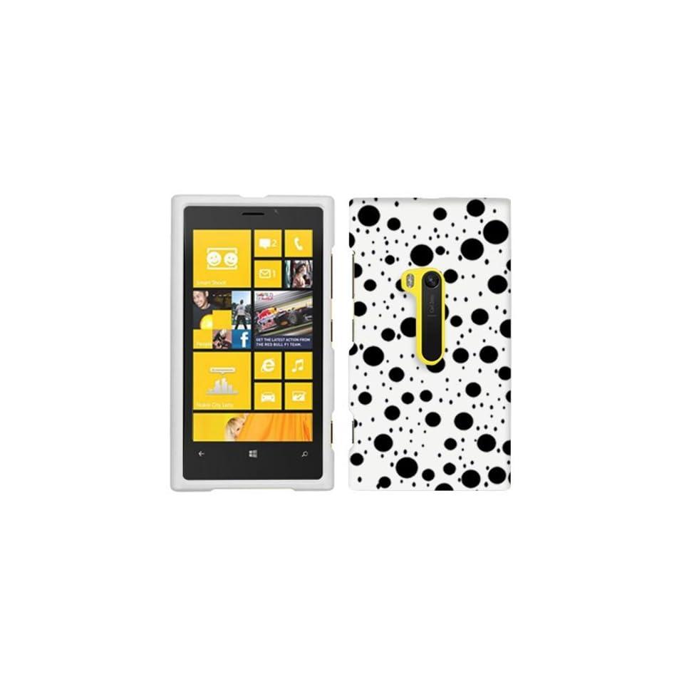 Nokia Lumia 920 Black Dots on White Hard Case Phone Cover
