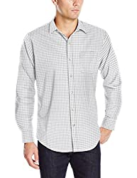 Van Heusen Men's Long Sleeve Traveler Stretch Non Iron Shirt, Grey Full Moon, Small