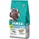 アイムス (IAMS) キャット インドア毛玉ケア 体重管理用 1-6歳用 厳選白身魚味 1.8kg