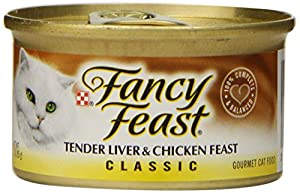 Fancy Feast Wet Cat Food, Classic, Tender Liver & Chicken Feast, 3-Ounce Can, Pack of 24