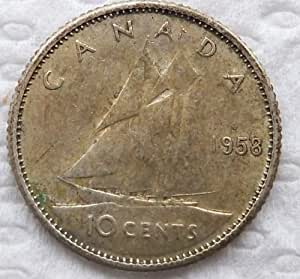 1958 Canadian Silver Dime