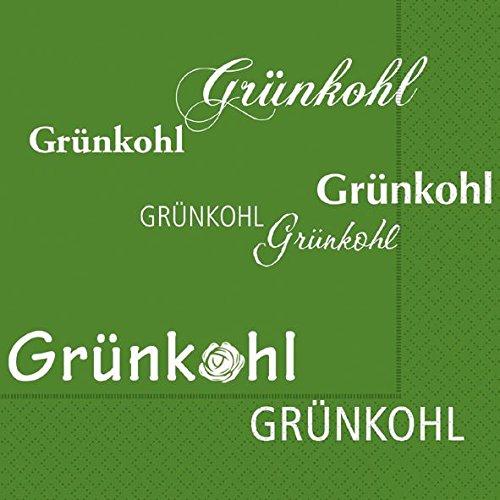 kohlfahrt-servietten-text-exclusiv-hochwertig-kohl-pinkel-grun-20-stuck-3-lagig-33x33cm