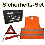 Pannen- Sicherheits- & Erste Hilfe Set mit Warnweste Verbandskasten und Warndreieck
