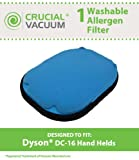 High Quality Washable Reusable Pre-Motor Filter Designed To Fit All Dyson DC16 Hand-held Vacuums; Compare To Dyson Part # 912153-01; Designed & Engineered By Crucial Vacuum