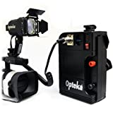 Opteka VL-100 100-Watt Halogen Video Light with 12v Rechargeable Battery Pack for Canon EOS 7D, 6D, 5D, 1DX, 70D, 60D, 50D, 40D, T5i, T4i, T3i and SL1 Digital SLR Cameras