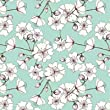 Cherry Blossom Gift Wrap Flat Sheet - 24in x 6ft