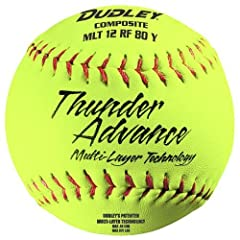 Dudley Thunder Advance 12 Slow Pitch Softball - Composite Cover - Dozen by Dudley