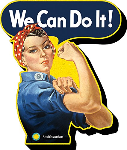 Aquarius Smithsonian- Rosie The Riveter Funky Chunky Magnet