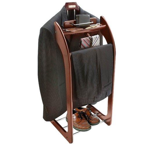 Mahogany+Clothes+Valet+Stand