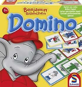 Amazon.com: Schmidt Spiele 40496 - Benjamon Domino: Toys & Games