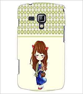 PrintDhaba Cute Doll D-5838 Back Case Cover for SAMSUNG GALAXY S DUOS 2 S7582 (Multi-Coloured)