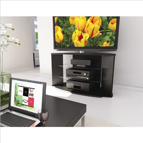 Cheap Cali 37″ – 52″ TV Stand in Black Lacquer (RX-4500)