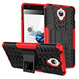 Micomy Kick Stand Spider Hard Dual Rugged Armor Hybrid Bumper Back Case Cover For One Plus Three -Red