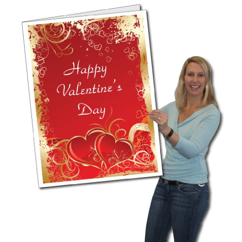 2'x3' Giant Valentine's Day Card W/Envelope