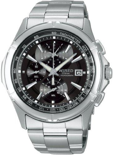 [ワイアード]WIRED 腕時計 NEW STANDARD MODEL ニュースタンダード モデル 1/100秒 クロノグラフモデル AGAV046 メンズ