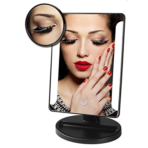 ieka tabletop led lighted vanity mirror natural bright light makeup mirro. Black Bedroom Furniture Sets. Home Design Ideas
