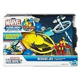 Marvel Super Hero Adventures Playskool Heroes Rescue Jet with Wolverine & Iron Man