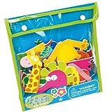 Meadow Kids MEA-MK035 - Weird and Wonderful Animals, juego de recortables adhesivos para el baño, diseño de animales